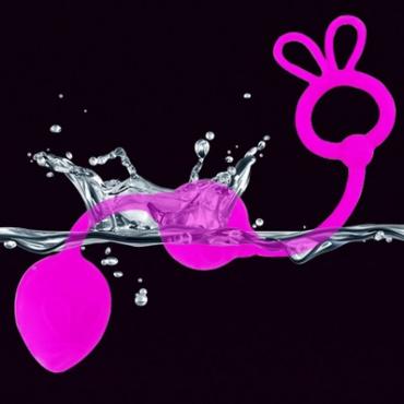 Цепочка анальных шариков PRETTY LOVE BALLS, силикон, фуксия, 4,5х3 см