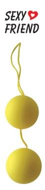 Пластиковые шарики с шелковистым  покрытием, желтые, 3,5 см