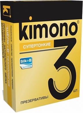 Презервативы KIMONO супертонкие, 3 шт.