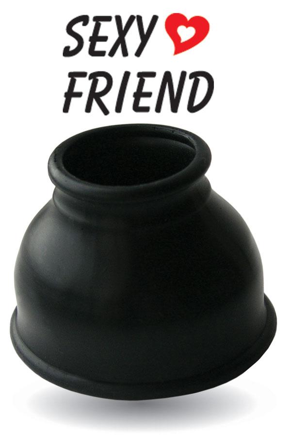 Насадка для помпы, латексная, черная, 8х3,5 см