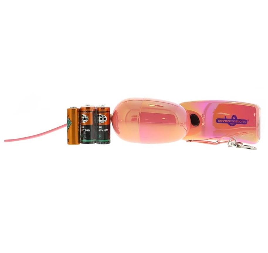 АКЦИЯ 25%!  Виброяйцо с дистанционным управлением Wireless Vibrating Egg, АВС-пластик, перламутрово-розовое, 6х3,5 см