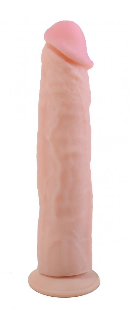 Фаллоимитатор на присоске ANDROID LONG,  кибер-кожа, 23,5(22,5)х4,6 см