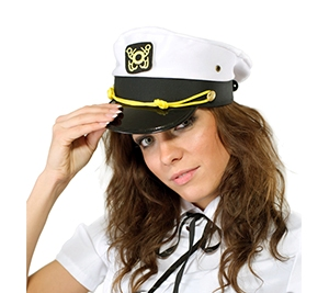 Фуражка моряка белая,  OS