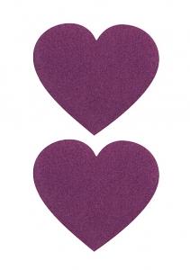 Пэстисы СЕРДЦЕ,  фиолетовые, 7 см