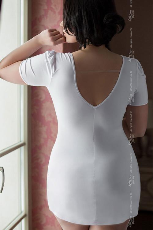 Костюм любимого доктора (платье и маска), белый, разм. XL