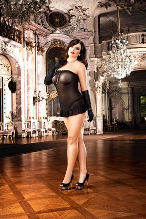 Мини-платье прозрачное, мелкая сеточка черное, разм. 46-48