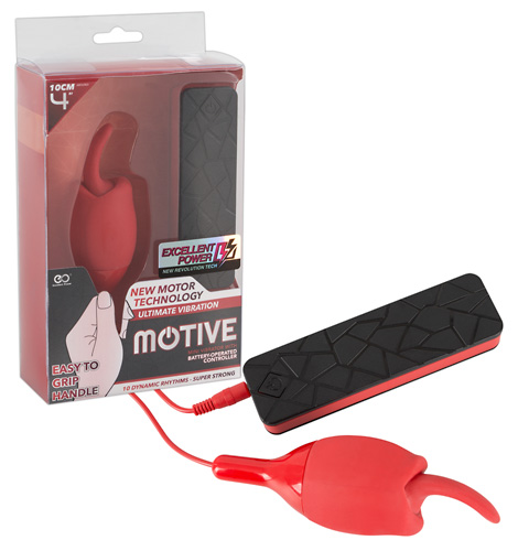 Виброяичко с язычком MOTIVE, 10 режимов, силикон+АВС-ластик, 12,5 см