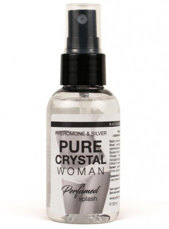 Женский парфюмированный спрей c феромонами PURE CRISTAL для нижнего белья, 50 мл.