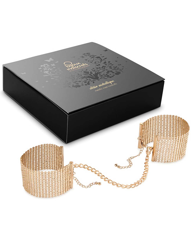 Дизайнерские металлические наручники BIJOUX Desir Metallique Gold