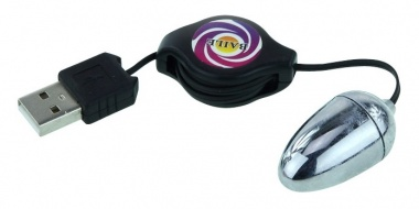 АКЦИЯ! Виброяичко MAGIC RABBITt  с разъемом  USB, серебристое, 3,5х2 см