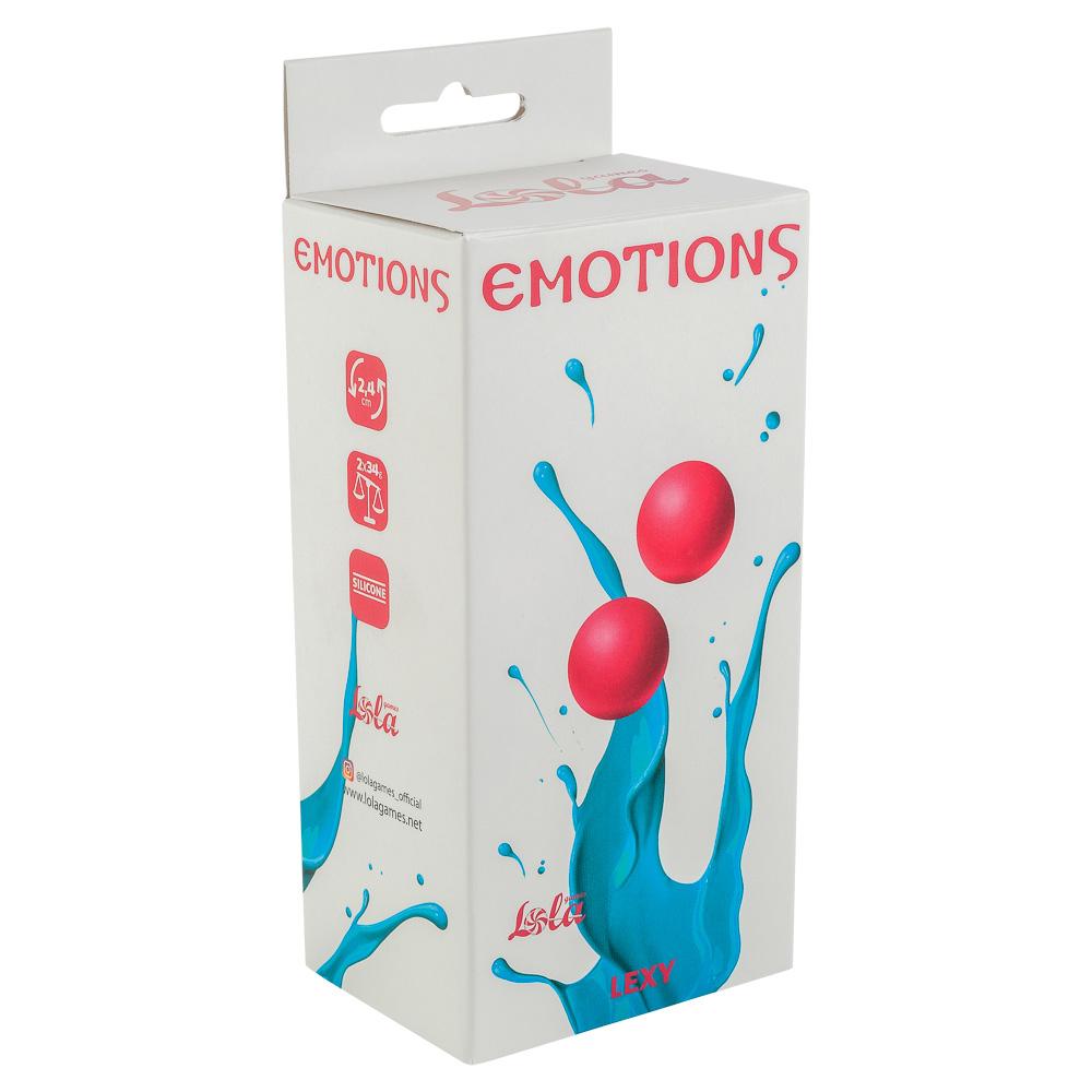 Вагинальные шарики без сцепки EMOTIONS LEXY SMALL PINK, силикон, розовые, 2,4 см
