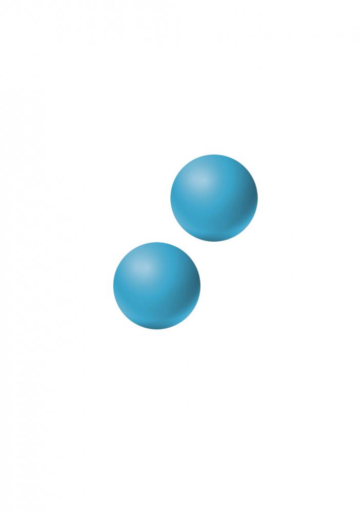 Вагинальные шарики без сцепки EMOTIONS LEXY SMALL BLUE, силикон, голубые, 2,4 см