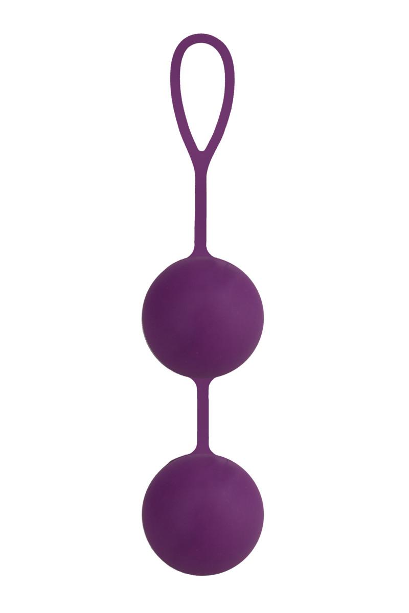 Крупные вагинальные шарики SEVEN CREATIONS силиконовые, фиолетовые, Ø4,5 см