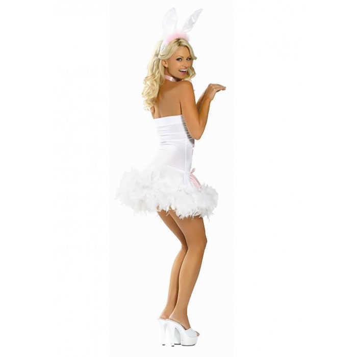 Костюм Пасхальный кролик; платье, ушки,  белый, разм.S/M
