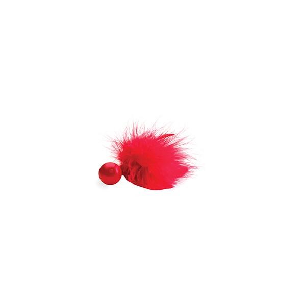 Подарочный набор BIJOUX NDISCRETS: подвязки, наручники, пэстисы, щекоталка, сатин-атлас-пух, красные