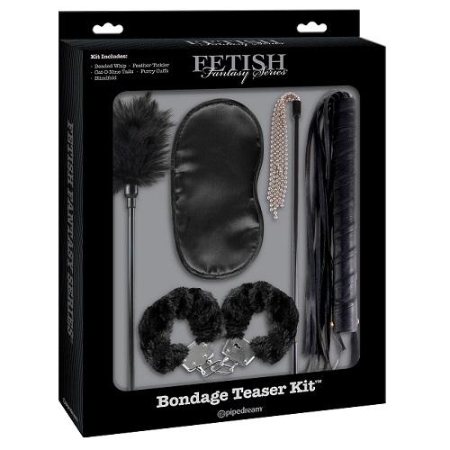 АКЦИЯ 25%! Набор для интимных удовольствий Bondage Teaser Kit - Black (5 предметов)