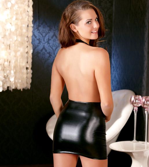 Cotelli Collection Платье Wetlook Minidress, черное, разм.S