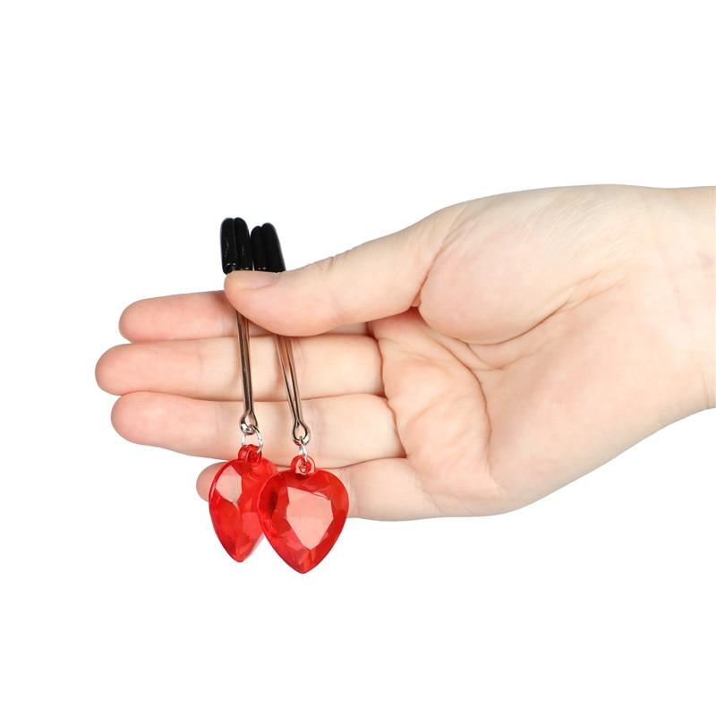 Зажимы для груди с сердечками