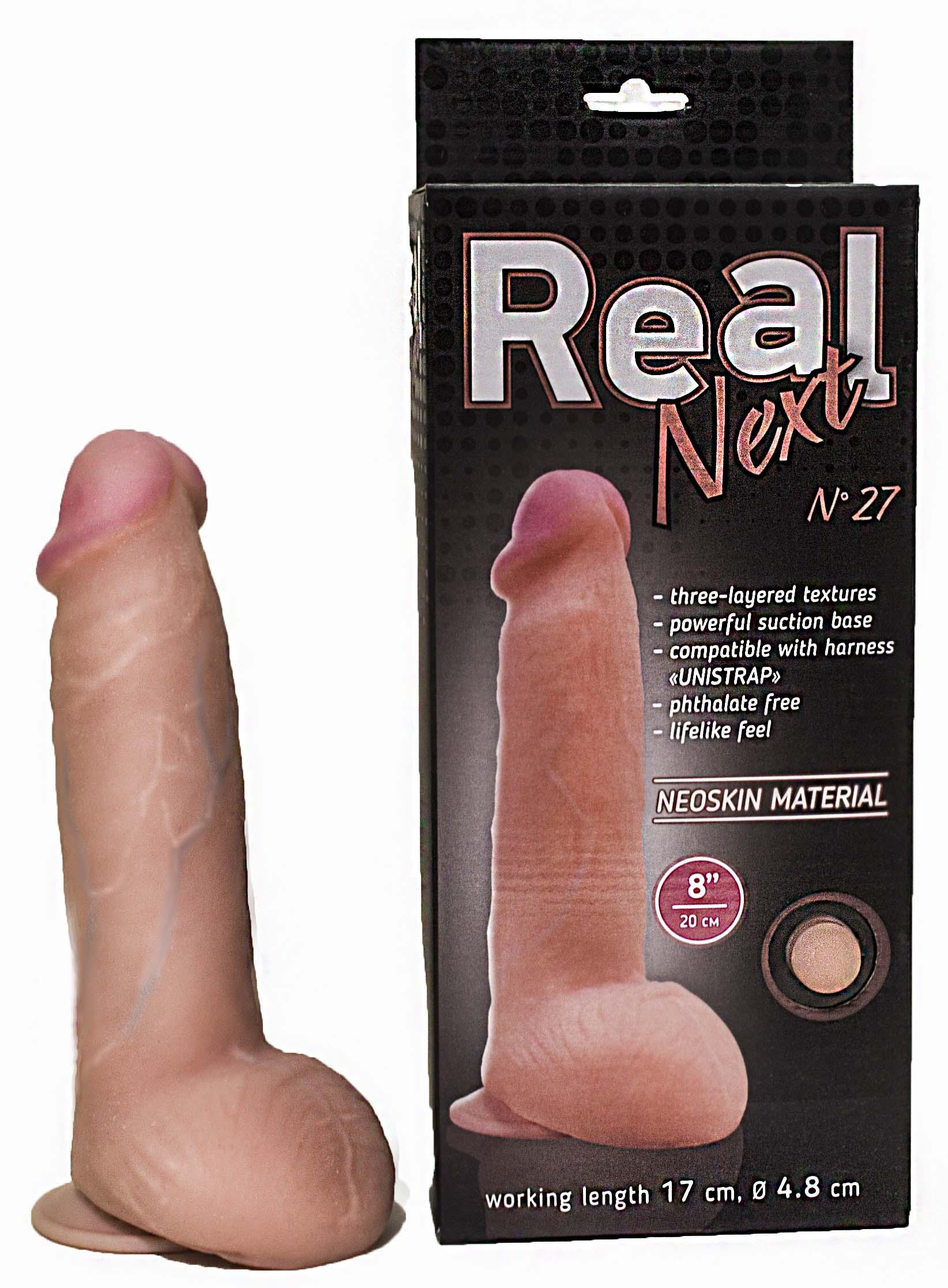 Фаллоимитатор REAL NEXT № 27 на присоске, 20(17)х4,5 см