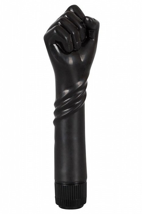 Вибратор для фистинга The BLACK FIST в виде руки, ТПР, черный, 23,5х6,3 см