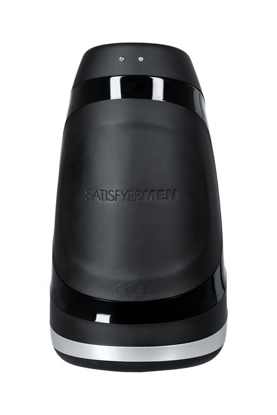 Инновационный Мастурбатор SATISFYER MEN HEAT VIBRATIОN, нагрев-3 режима, 14 режимов вибрации, 2 мощных моторчика, силикон +ABS пластик, 14х8,2х7,8 см