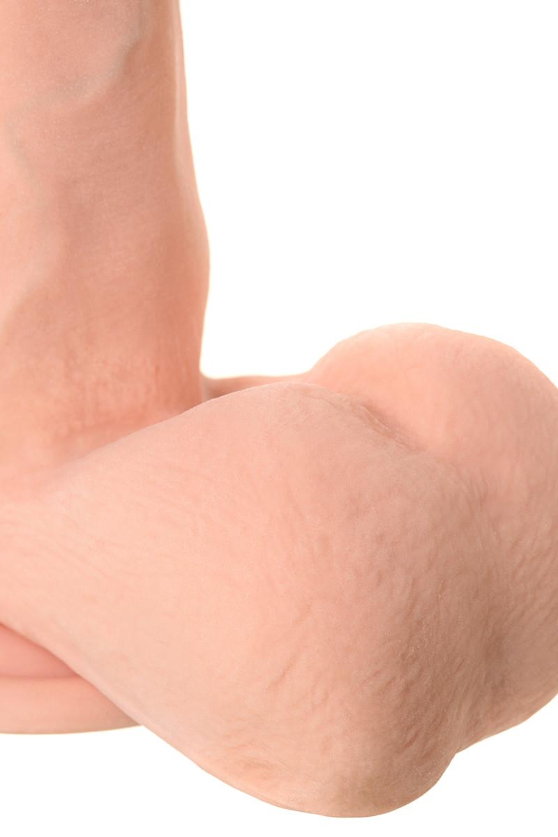 Элитный ротатор TOYFA REALSTICK ELITE , 7 режимов вращения, кибер-кожа, телесный, 18,5х4,2 см