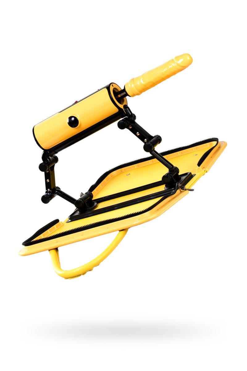 Секс-машина  F*CKBAG, MOTORLOVERS, ТПЕ+ABS, 3 режима, 190 фрикций/мин, желтый, функция нагрева, 22 см