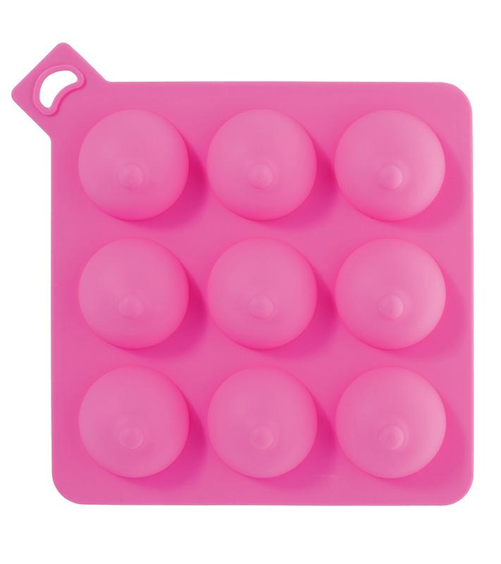 Формочка для льда  Сиськи, силикон, розовые, 13 см