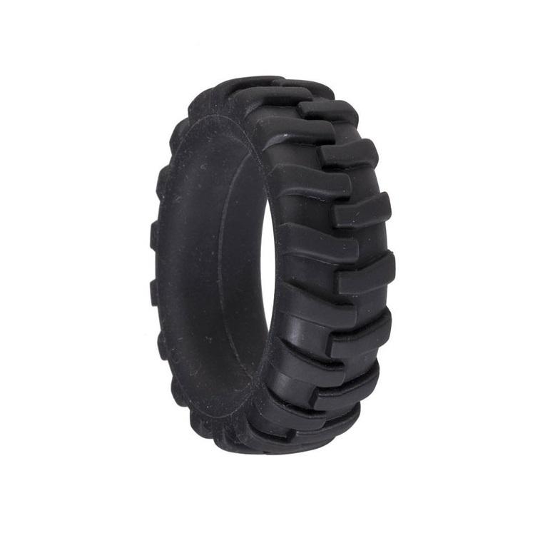 Брутальное эрекционное кольцо-ограничитель MENZSTUFF PENIS TIRE в виде шины, , черное, силикон, 4,2 см