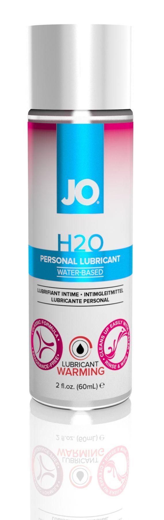 Классический возбуждающий лубрикант на водной основе JO H2O Warming, 60 мл