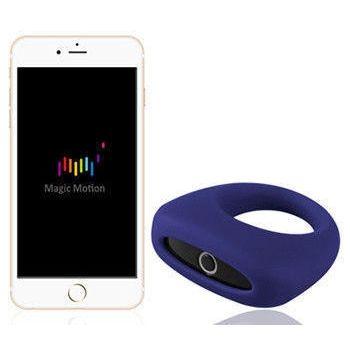 АКЦИЯ 25%! MAGIC MOTION  DANTE эрекционное кольцо со smart-приложением, силикон, синее, 5,5х(3-6) см