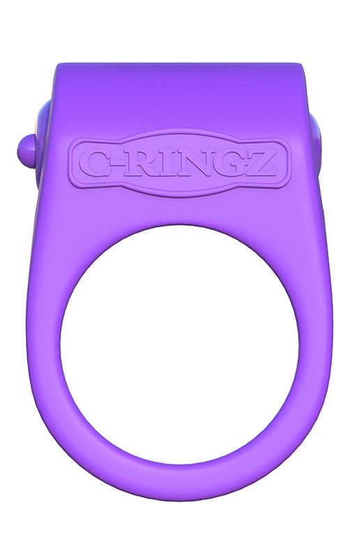 Эрекционное кольцо SILICONE DUO-RUNG  двойного  сжатия, с вибрацией, силикон, фиолетовое