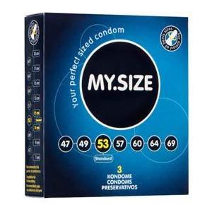 Презервативы  MY SIZE, натуральный латекс,  разм. 53 (шир. 53 мм), 3 шт.