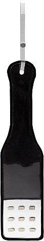 Пэдл BAD ROMANCE BLACK с металлическими заклепками, прозрачный/черный ПВХ, 31,5х8 см
