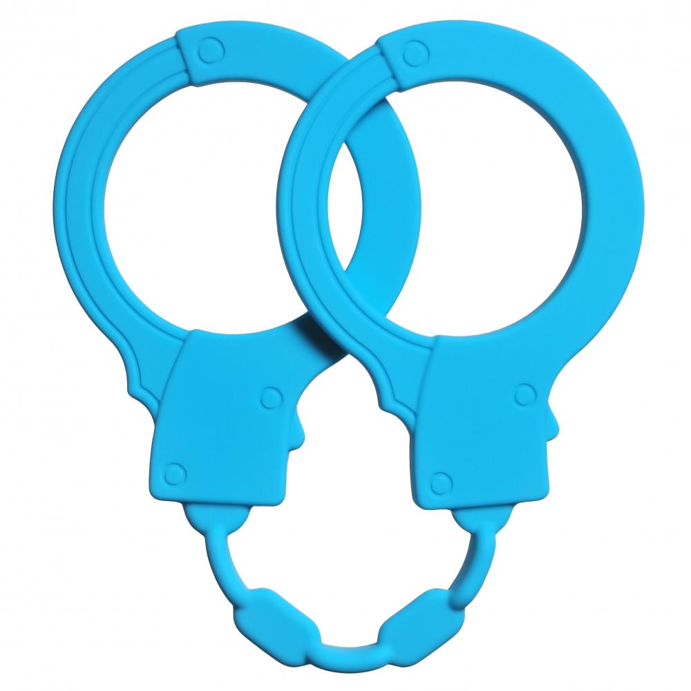 АКЦИЯ 40%! Силиконовые наручники STRETCHY CUFFS TURQUOISE голубые