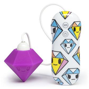 АКЦИЯ 45%! Дизайнерский мини-вибратор Tokidoki PURPLE DIAMOND, 7 режимов, силикон, фиолетовый,6х3,5 см