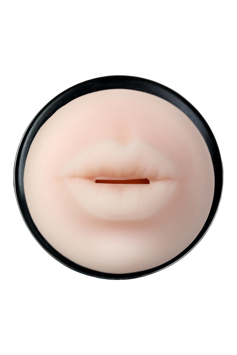 АКЦИЯ 20%! Мастурбатор-Рот TOYFA A-Toys   в чёрном корпусе, термоэластомер, 24(20)х7,6 см