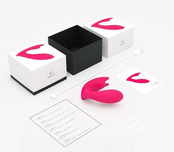 Хай-тек клиторально-вагинальный вибратор MAGIC MOTION EIDOLON с управлением из приложения iOS или Android, 8 х 3 см