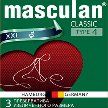 Презервативы MASCULAN CLASSIC XXL  увеличенного размера, 1 шт.
