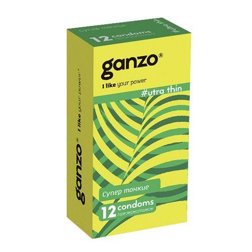 Презервативы GANZO ULTRA THIN ультратонкие, 12 шт.