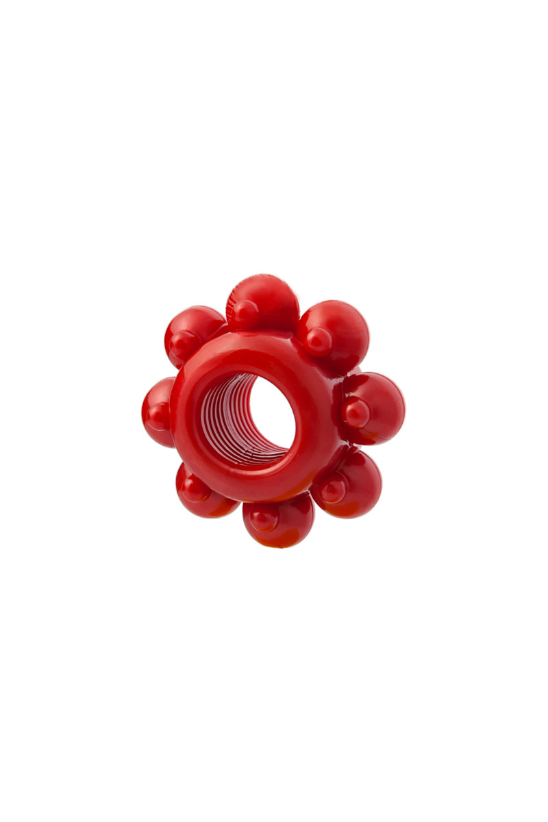 Рельефные  эрекционные кольца TOYFA Basic, ТПЕ, 1,5-3,5 см, 1 шт.