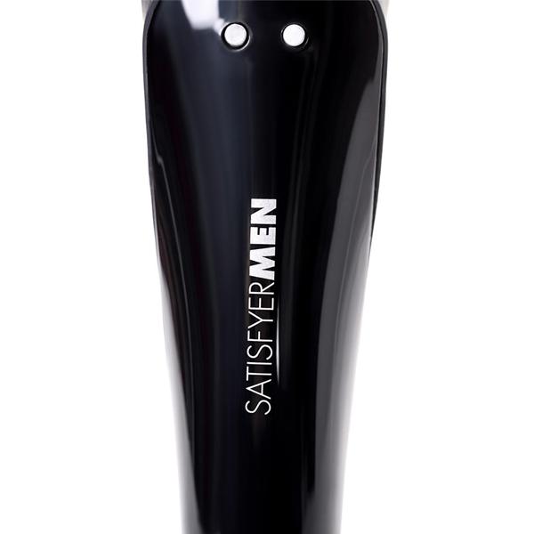 Универсальный вибро-мастурбатор SATISFYER MEN WAND с крылышками, 10 программ, 5 режимов интенсивности, силикон, черный, 20х3,5 см