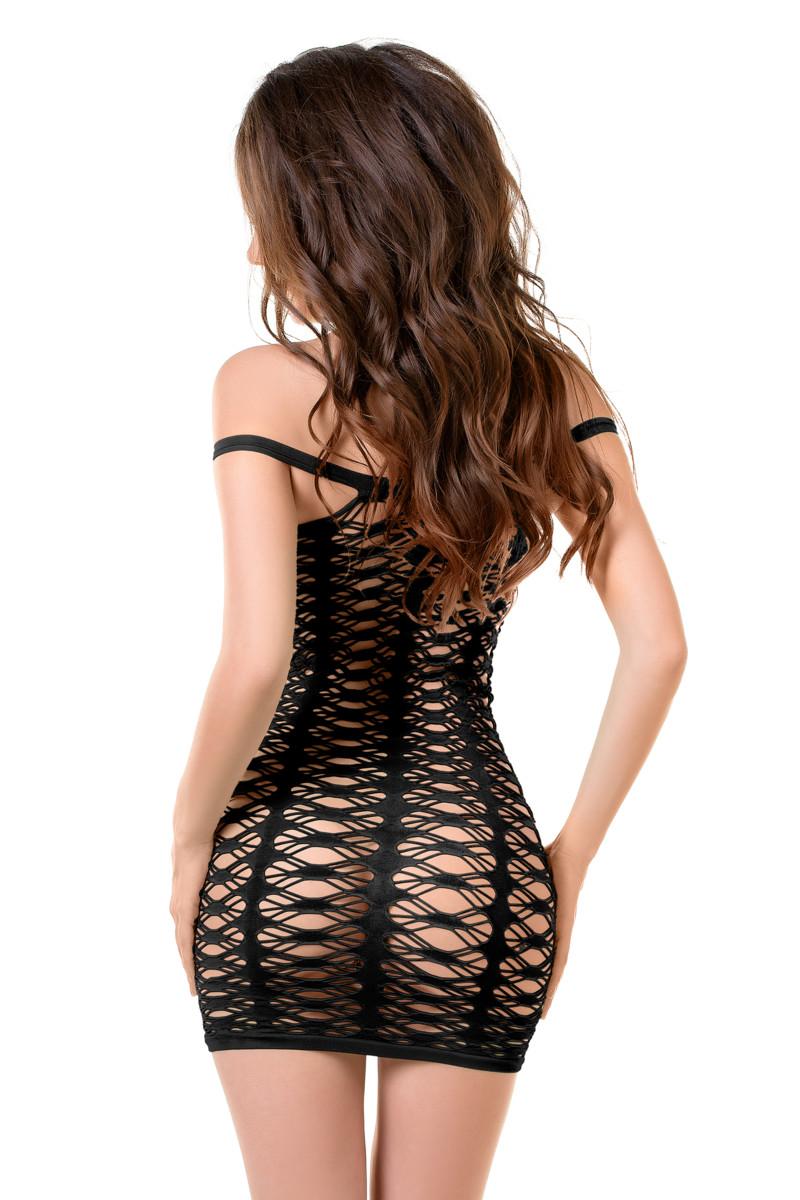 Платье - сетка JOLI RUBY, черное,  разм. S/M