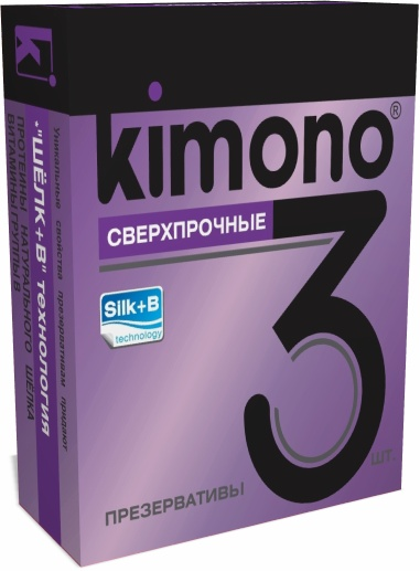Презервативы KIMONO  сверхпрочные,  3 шт.