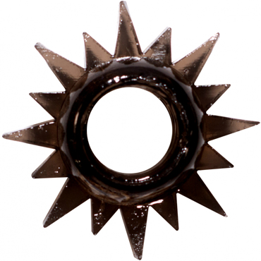 Эрекционное кольцо LOLA Toys RINGS CRISTALL черное, 4,5х2 см