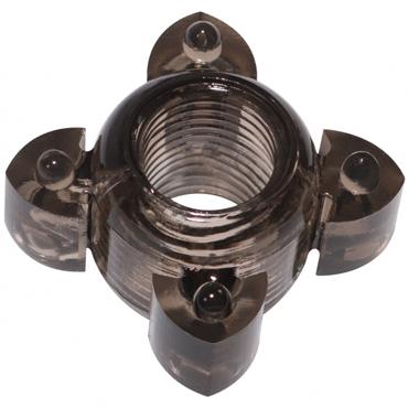 Эрекционное кольцо LOLA Toys RINGS SCREW черное, 4,5х2,2 см