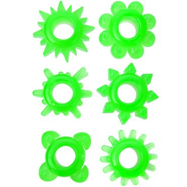 Эрекционные кольца TOYFA, ТПЕ, зеленые, 1,5-3,5 см, 1 шт.