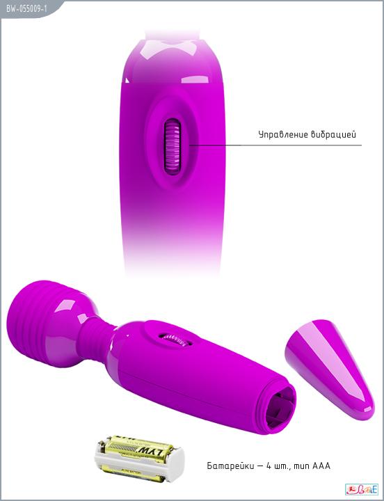 Вибратор POWER   WAND для принудительного оргазма , фиолетовый,  25х4,5 см