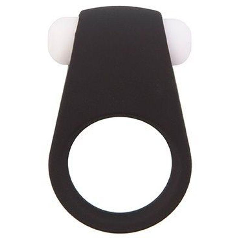 Водонепроницаемое эрекционное кольцо LIT-UP SILICONE STIMU  RING  силикон, съемная вибропуля, черное, 4,2х2,9 см