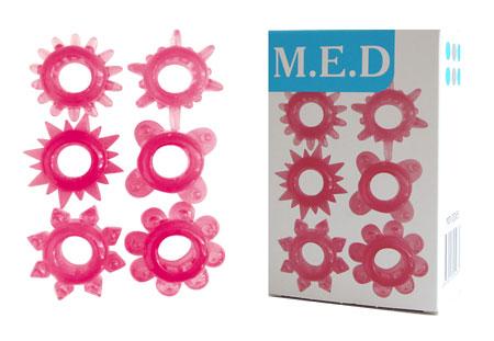 Эрекционные кольца M.E.D., силикон, розовый, 1 шт.